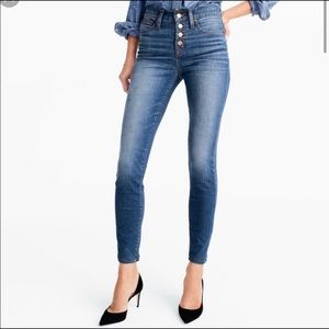 """J.Crew 9"""" High-rise Toothpick Button Fly Jeans 25"""